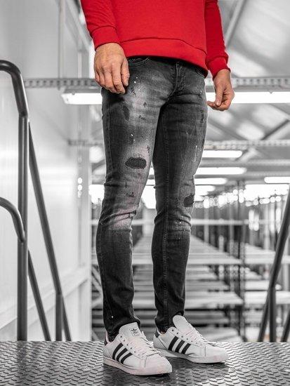 Tmavě modré pánské džíny regular fit Bolf 4008
