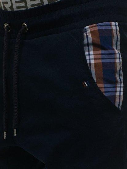 Tmavě modré pánské jogger kalhoty Bolf 0449