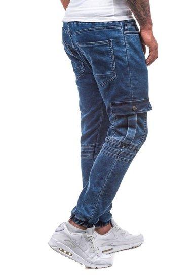 Tmavě modré pánské jogger kalhoty Bolf 805
