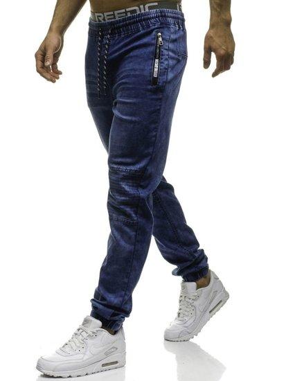 Tmavě modré pánské jogger kalhoty Bolf HY182