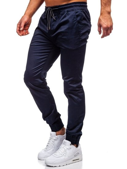 Tmavě modré pánské jogger kalhoty Bolf KA952