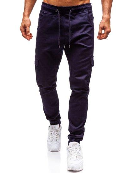 Tmavě modré pánské jogger kapsáče Bolf 0404