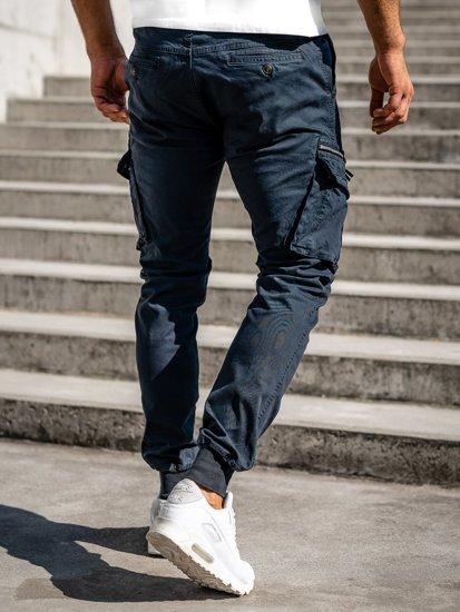 Tmavě modré pánské jogger kapsáče Bolf 8976