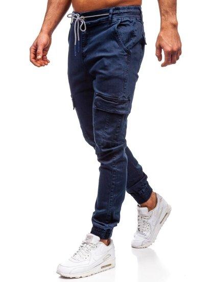 Tmavě modré pánské jogger kapsáče Bolf KA1300
