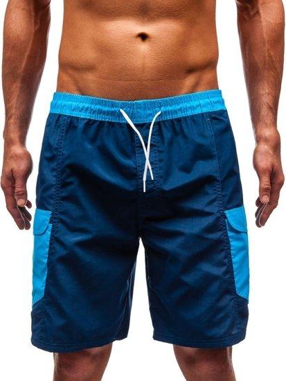 Tmavě modré pánské koupací šortky Bolf 352