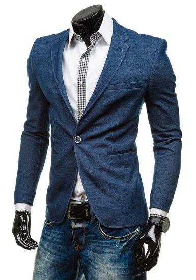 Tmavě modré pánské sako casual Bolf RBR096