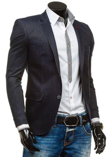 Tmavě modré pánské sako casual Bolf RBR140