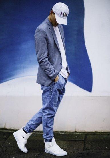 Tmavě modré pánské sako casual Bolf RBR150