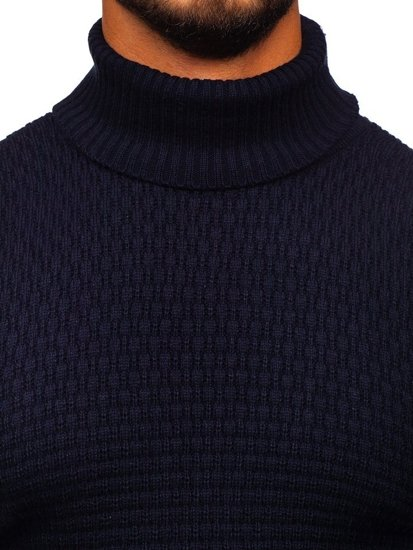Tmavě modrý pánský rolák Bolf 323