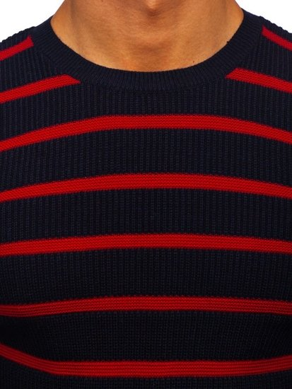 Tmavě modrý pánský svetr Bolf 4356