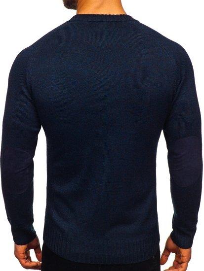 Tmavě modrý pánský svetr Bolf H1929