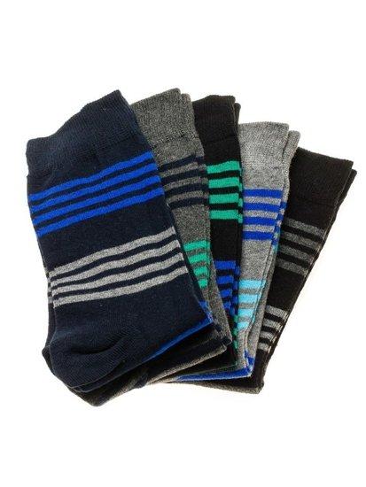 Vícebarevné pánské ponožky Bolf X10027-5P 5 PACK