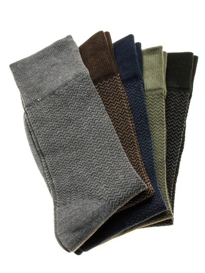 Vícebarevné pánské ponožky Bolf X18001-5P 5 PACK