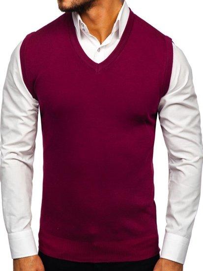 Vínová pánská pletená vesta Bolf H1939