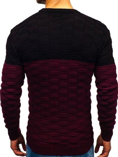 Vínový pánský svetr Bolf 6003