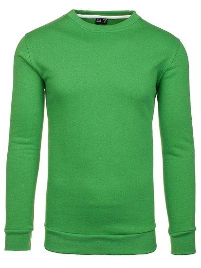 Zelená pánská mikina bez kapuce Bolf 01