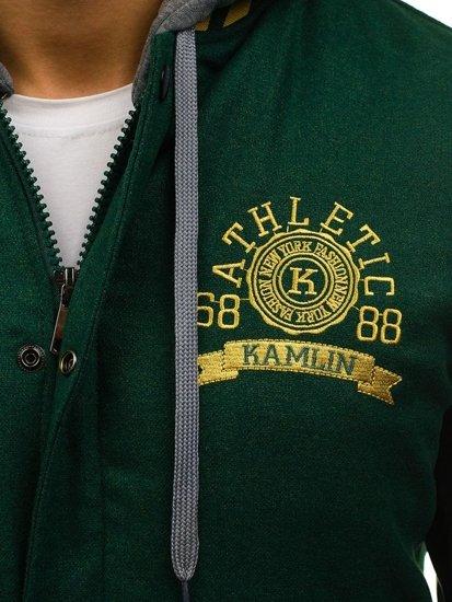 Zelená pánská sportovní zimní bunda Bolf K18