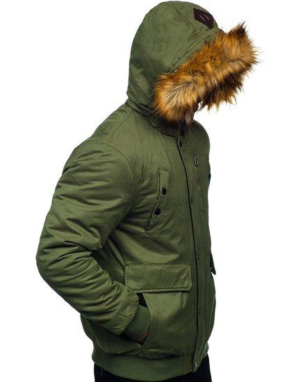 Zelená pánská zimní bunda Bolf 1778