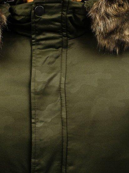 Zelená pánská zimní parka Bolf R52