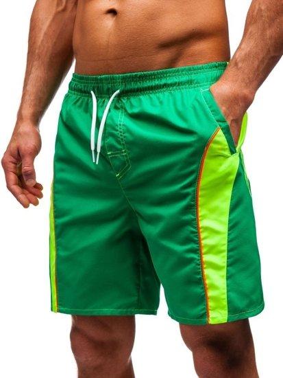Zelené pánské koupací šortky Bolf 336