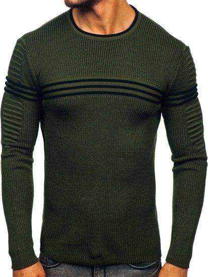 Zelený pánský svetr Bolf 0001