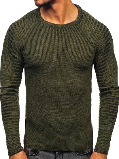 Zelený pánský svetr Bolf 0002