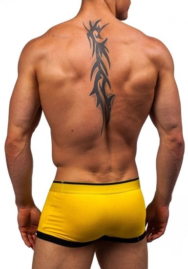 Žluté pánské boxerky Bolf G510