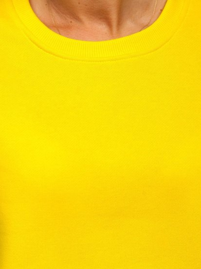 Žluto-neonová dámská mikina Bolf W01