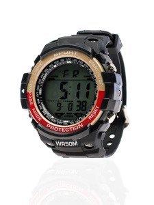 Béžovo-červené pánské hodinky Bolf 8352