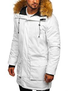 Bílá pánská zimní parka Bolf 201902
