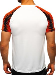Bílé pánské sportovní tričko s potiskem Bolf KS2061