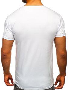 Bílé pánské tričko s potiskem Bolf 10858