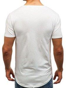 Bílé pánské tričko s potiskem Bolf 181073