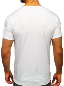 Bílé pánské tričko s potiskem Bolf KS1954