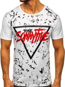 Bílé pánské tričko s potiskem Bolf KS2014