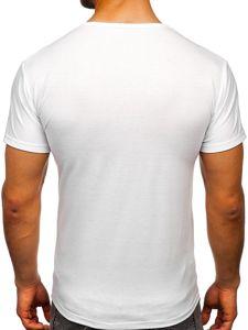 Bílé pánské tričko s potiskem Bolf KS2098