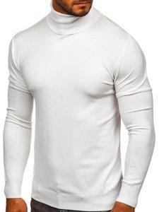 Bílý pánský rolák bez potisku Bolf YY02
