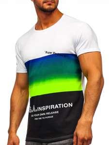 Celadonové pánské tričko s potiskem Bolf SS10919