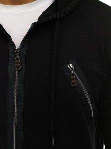 Černá pánská dlouhá mikina s kapucí Bolf NRT540