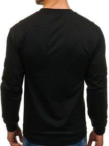 Černá pánská mikina bez kapuce s potiskem Bolf 0385