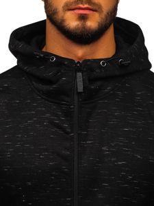 Černá pánská mikina na zip s kapucí Bolf 80581