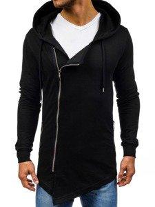 Černá pánská mikina s kapucí Bolf 0353