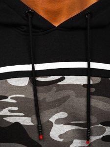 Černá pánská mikina s kapucí Bolf KS2221