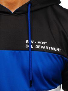 Černá pánská mikina s kapucí a potiskem Bolf DD20121