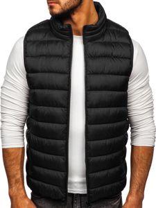 Černá pánská prošívaná vesta s kapucí Bolf B2679