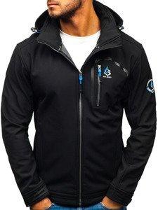 Černá pánská softshellová bunda Bolf 004A