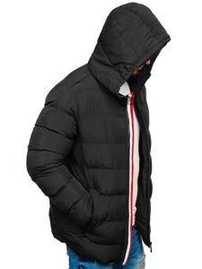Černá pánská zimní bunda Bolf 5974