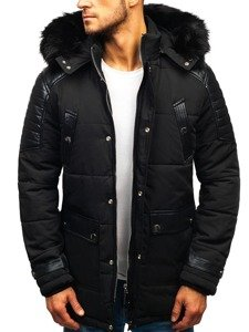 Černá pánská zimní bunda Bolf 88852