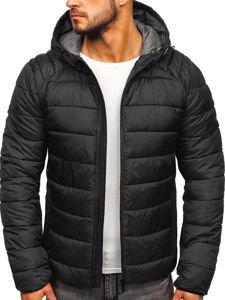 Černá pánská zimní bunda Bolf B1270