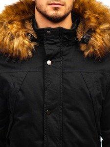 Černá pánská zimní parka Bolf R106